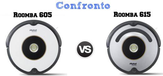 Confronto iRobot Roomba 605 e 615