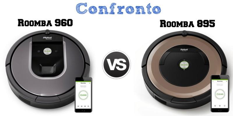 Confronto iRobot Roomba 960 e 895