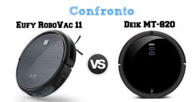 Confronto Eufy RoboVac 11 e Deik MT-820: Il Migliore