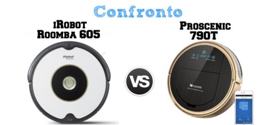 Confronto Roomba 605 e Proscenic 790T